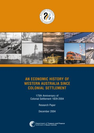 An Economic History of WA since colonial settlement