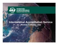 View - The International Accreditation Service