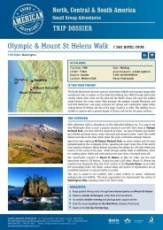 Olympic & Mount St Helens Walk 7 Day hotel tour - Adventure ...