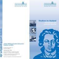 Studium im Ausland - Goethe-Universität