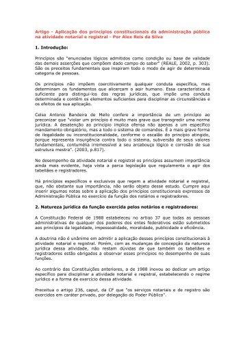 Artigo - Aplicação dos princípios constitucionais da ... - Recivil