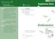 Kleidermotten Tipps zum Umgang mit Schädlingen ... - Stadt Münster