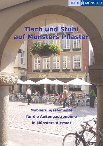 Tisch und Stuhl auf Münsters Pflaster - Stadt Münster