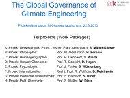 Presentation - Global Governance of CLIMATE ENGINEERING