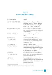 List of official documents* - WHO SEAR Digital Repository