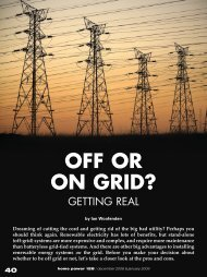 Off or On Grid? - Home Power Magazine