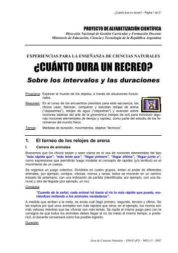 La carrera de relojes de arena - Colección educ.ar