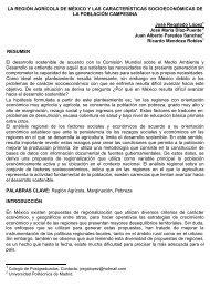 la región agrícola de méxico y las características socioeconómicas ...