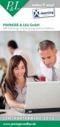 PIWINGER & LAU GmbH ... makes IT easy! - X-Learning.de