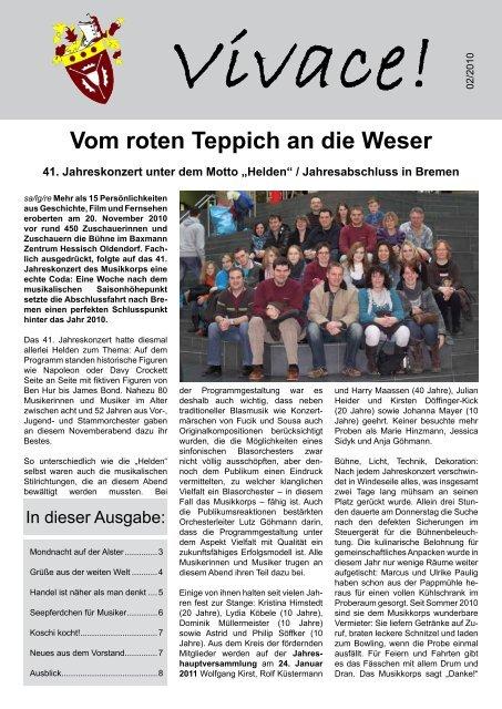 Vom Roten Teppich An Die Weser Musikkorps Der Stadt