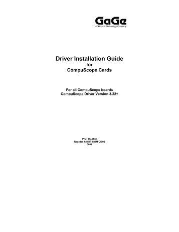 Driver Installation Guide - Egmont Instruments