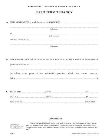 Rental Agreement Form Wa Heartpulsar