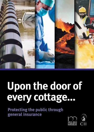 Protecting the public through general insurance - The Chartered ...