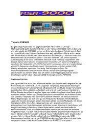 Yamaha PSR9000-Test - NEU
