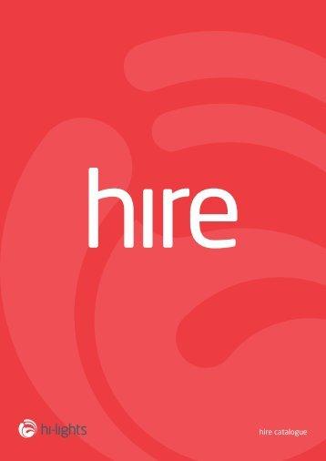 hi-lights hire catalogue
