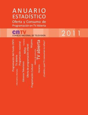 Descargue Anuario Estadístico Oferta y Consumo de ... - CNTV