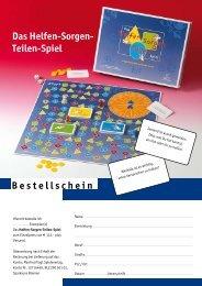 Das Helfen-Sorgen- Teilen-Spiel - Manfred Vogt Spieleverlag
