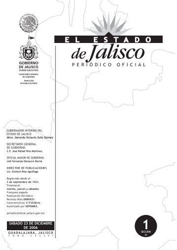 SÁBADO 23 DE DICIEMBRE DE 2006 - Periódico Oficial El Estado ...