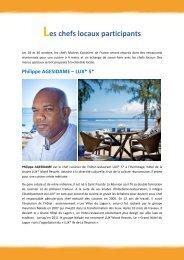 Les chefs locaux participants - Ile de La Réunion Tourisme
