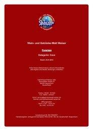 Preisliste für Kategorie: Cava - und Getränke-Welt Weiser