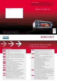 Becker Cascade Pro - Harman/Becker Automotive Systems GmbH