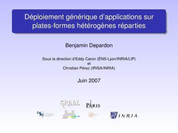 Déploiement générique d'applications sur plates-formes ... - graal