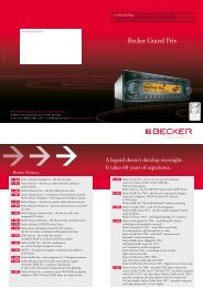 Becker Grand Prix - Harman/Becker Automotive Systems GmbH