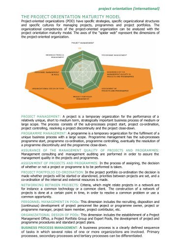 THE PROJECT ORIENTATION MATURITY MODEL - pmgroup.at