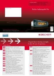 Becker Indianapolis Pro - Harman/Becker Automotive Systems GmbH