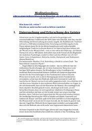 Meditationskurs: I. Untersuchung und Erforschung des Geistes