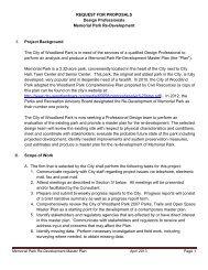 REQUEST FOR PROPOSALS Design Professionals Memorial Park ...