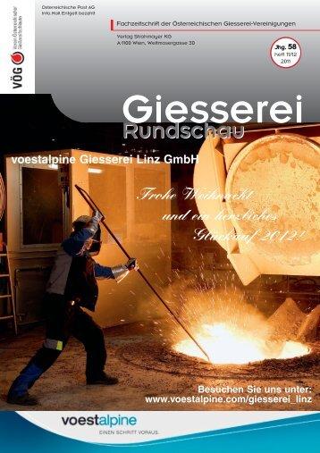 11/12 - Verein österreichischer Gießereifachleute