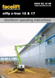 Operating & Safety Instructions - Facelift