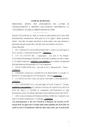 elenco ditte partecipanti e ammesse - Comune di Pistoia