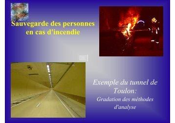 Exemple d'application sur le cas du tunnel de Toulon