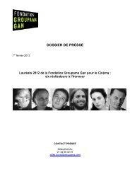Nicolas Mauvernay - Fondation Groupama Gan pour le Cinéma