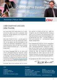 Newsletter | Februar 2012 Liebe Leserinnen und ... - Frank Heinrich