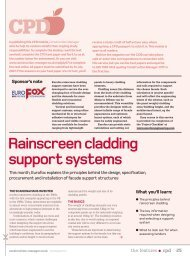 Rainscreen cladding support systems - Building