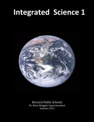 21st Century Integrated Science - Secondary Programs - Brevard ...