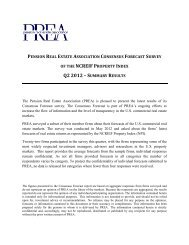 of the ncreif property index q2 2012 - Pension Real Estate Association
