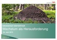 Wachstum als Herausforderung - Stadtentwicklung - Winterthur