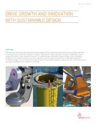 Drive GrowTh anD innovaTion wiTh SuSTainable ... - SolidWorks
