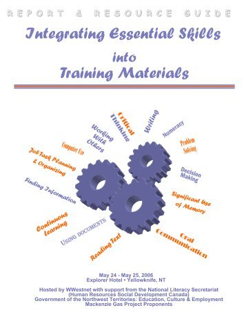 Integrating Essential Skills into Training - National Adult Literacy ...