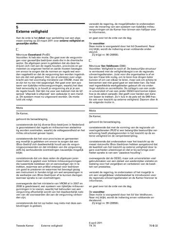 Externe veiligheid - Nederlandse Grondwet