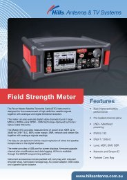 Field Strength Meter - Hills Antenna & TV Systems