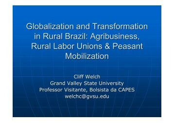 Globalization and Transformation in Rural Brazil ... - UNESP