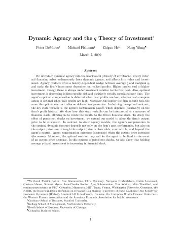 agency theory the branch of financial A collection of economics keywords and phrases  changes in a corporationâ s financial statements as a  agency (theory): a branch of economics.