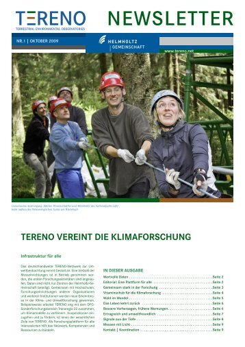 NEWSLETTER - bei TERENO - Forschungszentrum Jülich