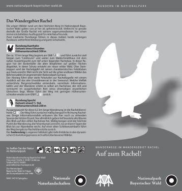 """Faltblatt """"Auf zum Rachel"""" - Nationalpark Bayerischer Wald"""