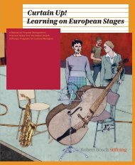 Curtain Up! Learning on European Stages - Robert Bosch Stiftung